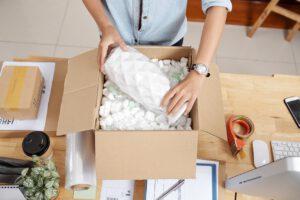 Einpacken un umzugsmaterial